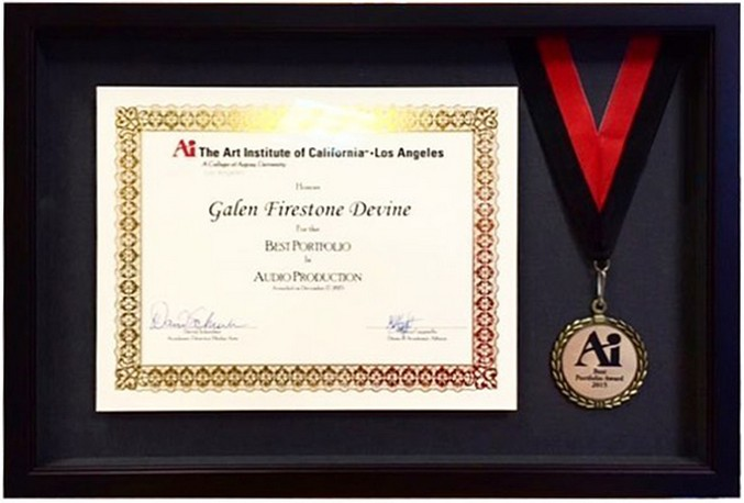 Custom Picture Framing for Awards | Award Frames in Los Angeles