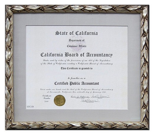 Certificate and diploma Framing Store in Los Angeles California