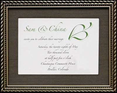 Custom Wedding Frame Example 2